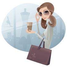 Virtual Assistant + Social Media Manager Woman in sunglasses with briefcase 218x218
