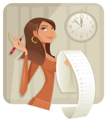 Virtual Assistant + Social Media Manager Woman with list 218x249